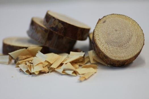 Wood discs and wood shavings